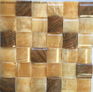 Nature Stone Marble Mosaic Onyx House Building Material Wall Til Floor Tile (FYSSL075) pictures & photos
