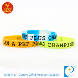 Customized Logo Segment Silicone Bracelet in High Quality From China pictures & photos