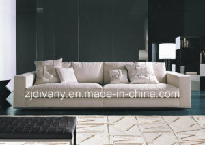 Modern White Fabric Leather Sofa (D-72-C) pictures & photos