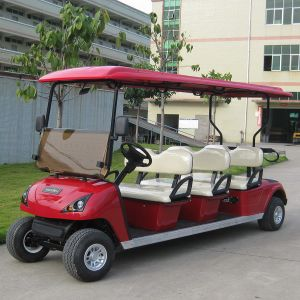 Airport 6 Passenger Electric Golf Shuttle Cart for Sale (DG-C6) pictures & photos