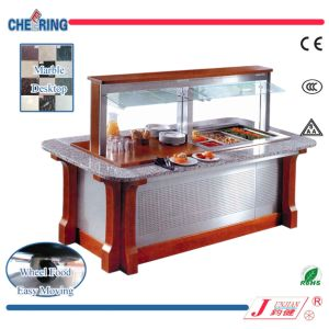 Ce Certificate Luxury Marble Square Commercail Restaurant Buffet Salad Bar pictures & photos