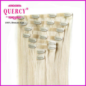 Thickness Silicon Wholesale Price PU Skin Weft Clip in Weft pictures & photos