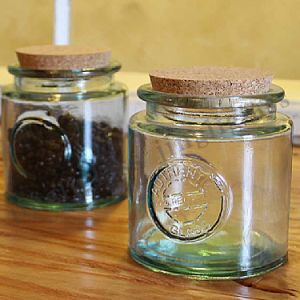 Round Shaped Glass Jar with Cork Lid for Honey pictures & photos