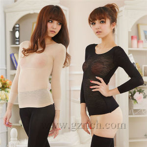 T-Shirt Turtle Neck/Women Body Shaping Lace Molding Warm Clothes pictures & photos