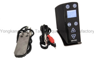 Top Quality LCD Tattoo Power Supply for Tattoo Machine Including Pedal and Clip Cord pictures & photos