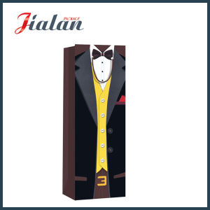 Matte Laminated Coated Paper Men′s Bottle Shopping Gift Paper Bag pictures & photos