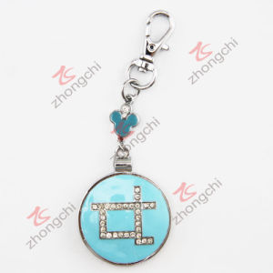Round Mirror Open Locket Key Chain (KC)