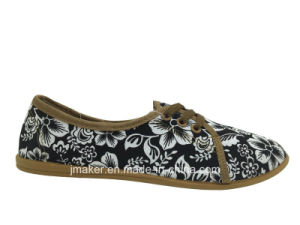 Comfortable Woman Shoe with Canvas Upper (H736-L)