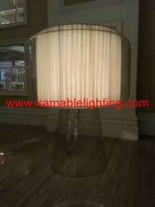 Modern Steel Fabric Lampshade Mirror Bedside Table Lamp (JT13023/00/001) pictures & photos