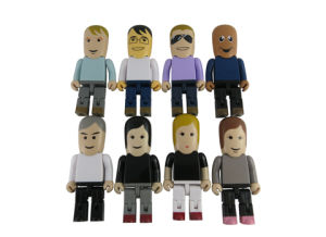 Plastic USB Flash Drives, Robot USB Memory Disk, Figure USB Flash Disk, Various Kinds of Human Shape USB pictures & photos