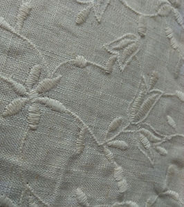New Design Emroidery Linen Fabric Lace