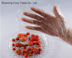 Food Product Plastic PE Gloves pictures & photos