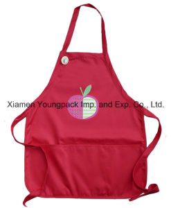 Custom Embroidery Girls Red Poly Cotton Kids Personalized Cooking Apron pictures & photos