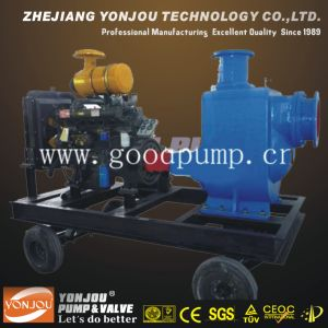 Diesel Self-Priming Sewage Pump with Trailer pictures & photos