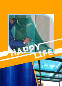 Blue Color Glass Protective Film with UV Resistance pictures & photos