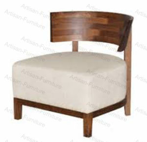 Wood Sofa Chair Solid Wood Single Seater Round Armchair