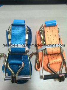 Factory Lashing Strap with Double J Hooks/Heavy Duty Ratchet Tie Down pictures & photos