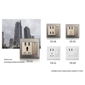 High Quality Multi-Functional Gold USB Outlet Electric Wall Mount Socket