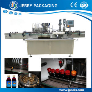 Automatic Vitamin Syringe Liquid Glass Bottle Filling & Capping Machine pictures & photos