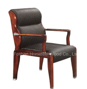 Leather Office Meeting Chair with Wooden Frame (HF-CH030L) pictures & photos