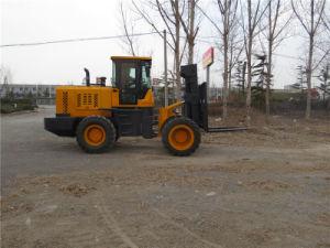 6ton Handling Equipment Four Wheel Driving Rough Terrain Forklift pictures & photos