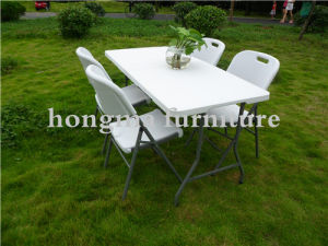 Cheap Plastic 5ft Outdoor Folding Table for Banquet, Party, Camping