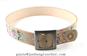 Women Fashion Embroidered Best Leather Belt pictures & photos
