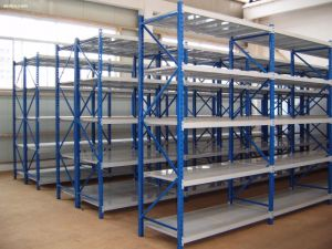 Metal Long Span Warehouse Storage 4-Tier Shelving Unit pictures & photos