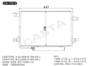 Auto Condenser for Benz A-class W169 (04-) /B-class W245 (05-) pictures & photos