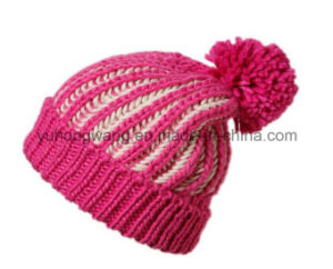 Customized Winter Warm Acrylic Knitted Beanie Skull Hat/Cap pictures & photos