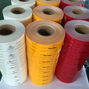 Adhesive Reflective Tape Microprism Truck Reflective Marks for Vehicle Warning and Road Safety pictures & photos