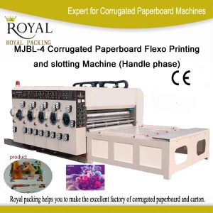 Mjbl-4 Series Corrugated Paperboard Flexo Printing and Slotting Machine (Handle phase) pictures & photos
