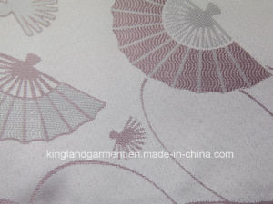 Polyester Quality Jacquard Fan Design Wide Width Table Cloth pictures & photos