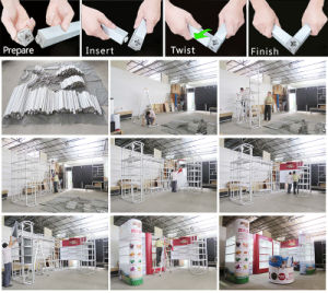 Portable Reusable Exhibition Standard Booth with Roof 3X3X2.5m pictures & photos