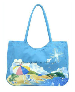 Polyester Leisure Beach Tote Bag with Printing Design pictures & photos
