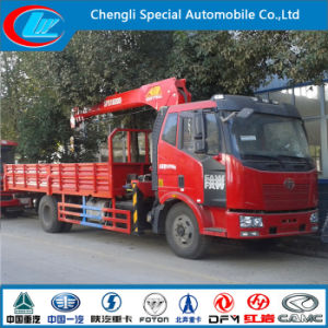 Exported Faw Rhd 6 Wheeler Truck with Crane pictures & photos