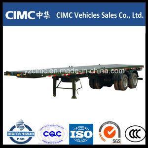 Cimc 40′ Tri-Axle Flatbed Trailer with 12 Locks pictures & photos