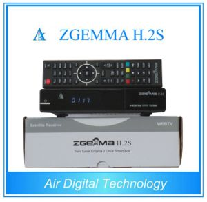 Zgemma H. 2h Set Top Box Dual Core Linux OS E2 with DVB-S2+T2/C Twin Tuners pictures & photos