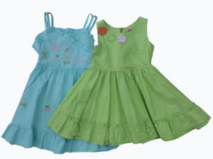 Flower Kids Girl Dress in Children′s Apparel (SQD-123-124) pictures & photos