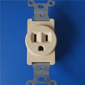 with Ground ABS Copper Wall Socket (W-043) pictures & photos