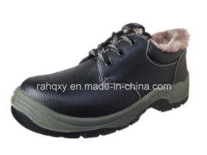 Split Embossed Leather Safety Shoes Low Cut Ankle (HQ05070) pictures & photos