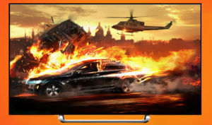 50′′led TV with Tempered Glass