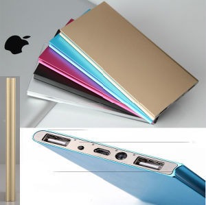 Ultrathin Aluminium Alloy Fully 20000mAh Portable External Battery Charger Power Bank for Cell Phone pictures & photos