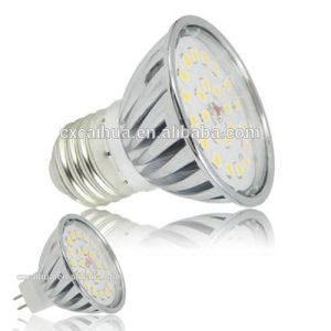 E27/GU10 4W 24 SMD2835 Cool White LED Bulb