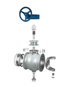 Eccentric Segment Ball Valve for Scaling Medium pictures & photos