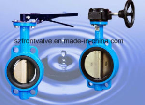 Cast Iron/Ductile Iron Pn10/Pn16 Dn80 Wafer Butterfly Valve pictures & photos