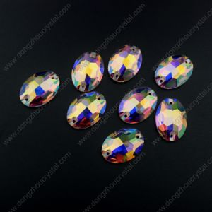 Oval Flat Back Glass Sew on Stones for Garment Accessories pictures & photos