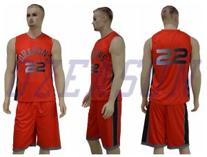 Blue/White Double Mesh Reversible Kids Basketball Jersey Sportswear pictures & photos