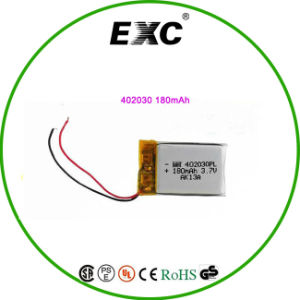 Rechargeable Lipo Battery 3.7V 180mAh Polymer Battery 402030 for Bluetooth Headset pictures & photos