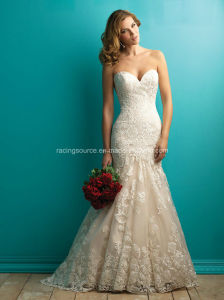 Sweetheart Lace Wedding Gown Meraid Bridal Dress pictures & photos